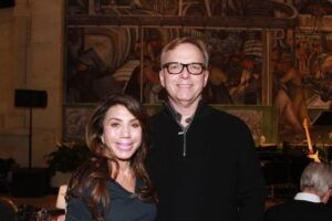 Carole J. Bufford at Rivera Court at the Detroit Institute of Arts February 23, 2019